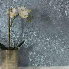 Terciopelo Aplastado Metalizado Papel Tapiz Azul - Arthouse 294303 Reflectante