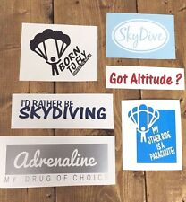 SKYDIVING DECAL x6 vinyl STICKER car parachute skydive adrenaline got altitude