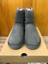 NEW UGG AUSTRALIA WOMENS MINI BAILEY BOW II BOOT 1016501-GREY GREY Size 7