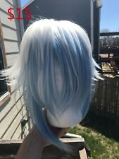 Blue and White Wig
