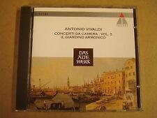 CD TELDEC / ANTONIO VIVALDI - CONCERTI DA CAMERA VOL.3 / IL GIARDINO ARMONICO