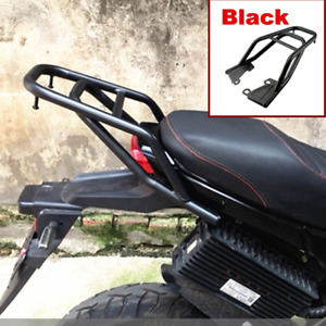 Black Motorcycle Rear Shelf Refitted Box Tail Fin Luggage Rack Seat Extension