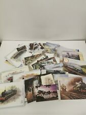 More details for bundle of 80+ old 90's steam train/train greeting cards & postcards