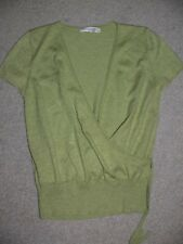 GORGEOUS TOP SHOP GREEN SHORT CARDIGAN MOCK WRAP AROUND IN A SIZE 12