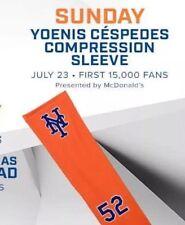 YOENIS CESPEDES ORANGE COMPRESSION ARM SLEEVE SGA CITI FIELD 7/23/17 NY METS NEW