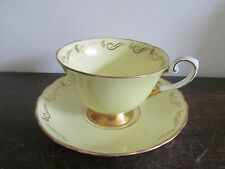 Tuscan England  Bone China Cup And Saucer Yellow Gold Vintage
