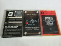 3 Musical Cassette Tapes Highlights Phantom of the Opera My One and Only (A2)