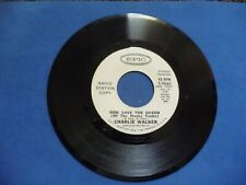 CHARLIE WALKER - GOD SAVE THE QUEEN OF HONKY TONKS EPIC COUNTRY PROMO 45 NM