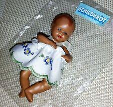 Schildkröt Puppe Strampelchen Gr. 10 - Blumenkind blau-weiß