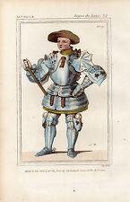 COSTUME DE LA FRANCE XVe siècle / Artus le Téméraire, Duc de Richemont