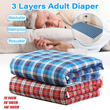 3-Layer Washable Incontinence Bed Diaper Pad Seat Reusable Protection Sheets