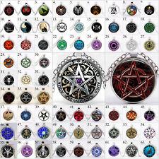 Halskette Pentagramm Baphomet Mystik Drudenfuß Teufel Satan Ritual Okkult Wicca