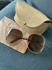 Genuine Chloe sunglasses - Supersized Great Condition With Box And Cloth
