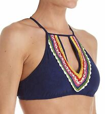 Nanette Lepore Peace N Love Stargaze Print High Neck Bikini Top XS