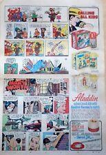 Yogi Bear comic w/ Dick Tracy Aladdin Lunch Box ad - 1967 color Sunday comic ad