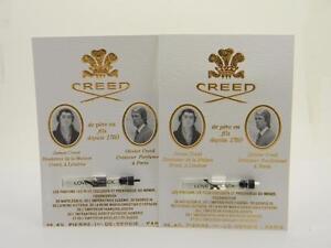 2 x Creed LOVE IN BLACK Vial Sample Splash 0.08 fl oz / 2.5ml