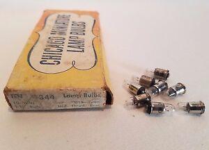 Boite De 8 Chicago Miniature 344 CM344 GE344 Midget Lampes Ampoules 10V .015A