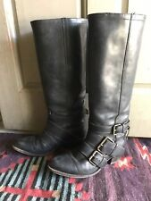 Sendra Black All Leather Tall Boots 9/40 Boho