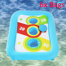 Inflatable Pool Ring Toss Games for Kids Adults Float Cornhole Board Pool Party