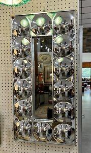 MCM SPACE AGE BUBBLE MIRROR OP ART 1960s TURNER MID CENTURY MODERN Chrome
