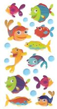 3D Epoxy Gel Stickers TROPICAL FISH for Scrapbooking sticker Album school