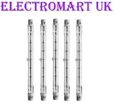 5 X 150W TUNGSTEN HALOGEN DOUBLE ENDED LAMPS BULBS 78MM