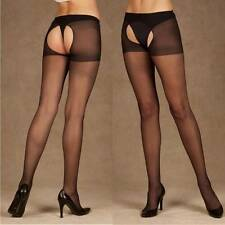 Black Sexy Open Crotch Crotchless Sheer Pantyhose Stockings Tights