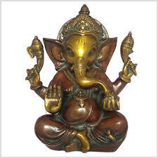 Mukesh Ganesha 21cm 3 Kilo Messing Art Antik Indien Hinduismus Glücksgott Ganesh