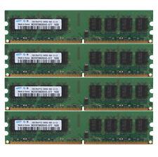 Samsung DDR2 8 GB RAM 4x 2 GB 2G 800MHz PC2-6400U 240PIN DIMM Desktop Memory CL6