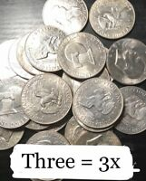 ✯3 EISENHOWER IKE COINS VARIOUS SILVER DOLLAR LOT 1971-1978, THREE Coin SET P D✯