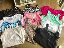 Girls JUSTICE Brand Spring / Summer Lot Size 10 Shirts Tops Tanks 10 Pieces EUC