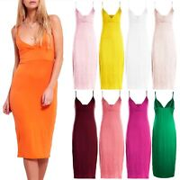Womens Celebrity Strappy Bodycon Ladies Wrap Cross Over Midi Dress Summer Casual