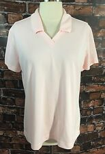 NEW Nike Golf Polo Shirt Dri Fit Pink Athletic Short Sleeve Womens Large
