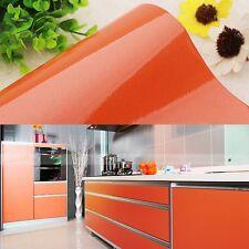 Gloss Oil Proof Wallpaper Wardrobe Cupboard Contact Paper Self Adhesive Sticker