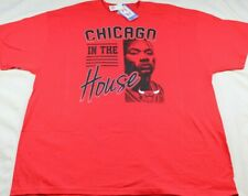 Chicago Bulls NBA Team Logo Majestic Red Shirt Mens Chicago in the House Sz XXL