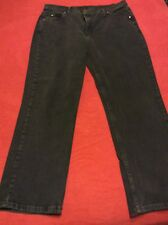 "Women's ""Riders by Lee"" Black Denim Jeans - Size 18 P"