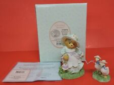 2003 CHERISHED TEDDIES ROSALIND GIRL/GEESE FIGURINE 114076-SPRINGTIME-NEW FRIEND