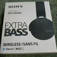 Sony MDR-XB650BT Black Headband Headsets New