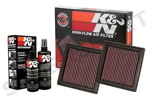 Two K&N 33-2399 Air Intake Filters w/ Cleaning Kit for G35 G37 350Z 370Z QX50