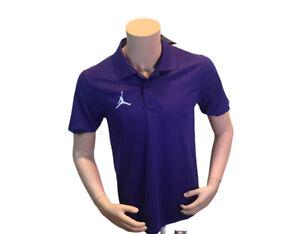 Nike Air Jordan Jumpman Purple Dri-Fit Polo Shirt AO9225-545 Men's Size XS