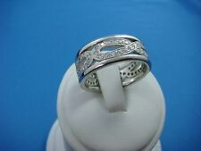 ! SPECTACULAR PLATINUM MEN'S DIAMOND WEDDING-ETERNITY RING, SOLID 18.3 GRAMS.