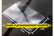 LOUPE GROSSISSEMENT MODÉRÉ 3X  (3 FOIS) FORME CARTE DE CRÉDIT FLEXIBLE ...