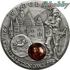 Niue Island 2009 silver 1$ Amber Route Breslau Wroclaw Rare