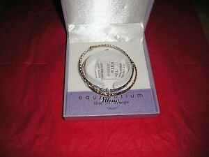 Equilibrium Silver Plated Bangle Bracelet Gift Boxed assorted designs Mum Sister