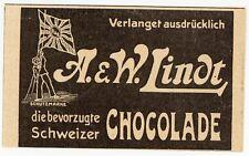 BERNE, Anzeige 1914 AG Lindt & Sprüngli A & W Rod. LINDT fils Schweiz Schokolade
