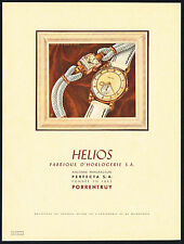 1940's Old Vintage 1946 Perfecta S.A. Helios Swiss Watch Porrentruy Art Print Ad