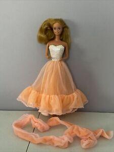 Peaches N' Cream Barbie Dress 1985 Vintage Mattel ~ Please Read Description!
