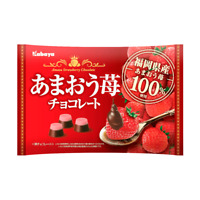 Kabaya, Amaou Strawberry Chocolate, 155g, Japan