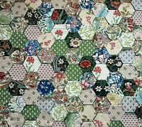 LIBERTY, WILLIAM MORRIS LAURA ASHLEY collection 120 vintage patchwork hexagons