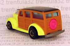 PINK INTERIOR VARIATION 40's WOODIE YELLOW BW BLACKWALL 1986 HOT WHEELS LOOSE